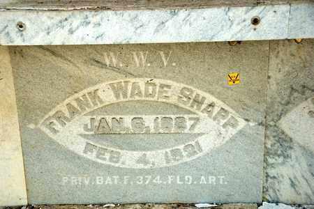 SNAPP, FRANK WADE - Richland County, Ohio | FRANK WADE SNAPP - Ohio Gravestone Photos