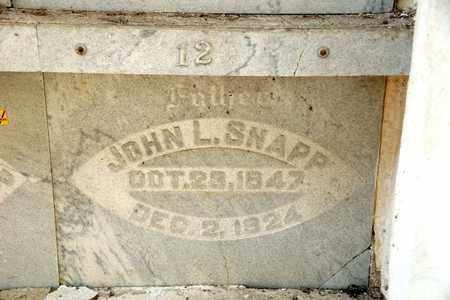 SNAPP, JOHN L - Richland County, Ohio | JOHN L SNAPP - Ohio Gravestone Photos