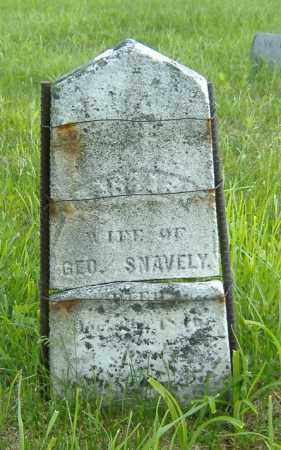 ALDSPAUGH SNAVELY, BARBARA - Richland County, Ohio | BARBARA ALDSPAUGH SNAVELY - Ohio Gravestone Photos