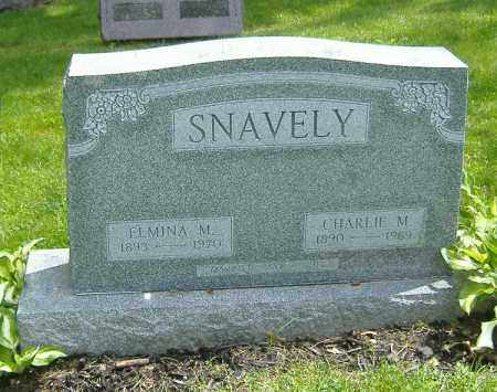 WORNER SNAVELY, ELMINA MABEL - Richland County, Ohio | ELMINA MABEL WORNER SNAVELY - Ohio Gravestone Photos