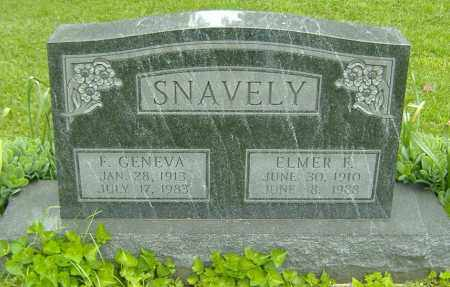 SNAVELY, ELMER F. - Richland County, Ohio | ELMER F. SNAVELY - Ohio Gravestone Photos