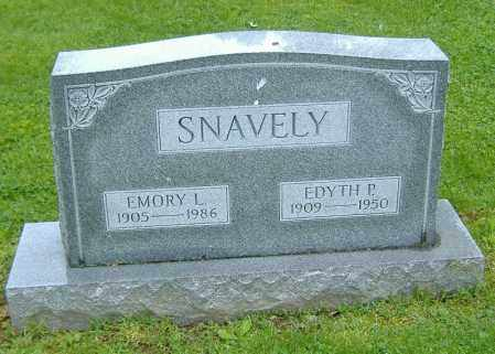 RYAN SNAVELY, EDYTH P. - Richland County, Ohio | EDYTH P. RYAN SNAVELY - Ohio Gravestone Photos