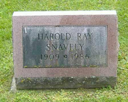 SNAVELY, HAROLD RAY - Richland County, Ohio | HAROLD RAY SNAVELY - Ohio Gravestone Photos