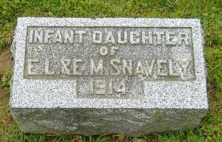 SNAVELY, INFANT DAUGHTER - Richland County, Ohio | INFANT DAUGHTER SNAVELY - Ohio Gravestone Photos