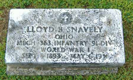 SNAVELY, LLOYD BENTON - Richland County, Ohio | LLOYD BENTON SNAVELY - Ohio Gravestone Photos
