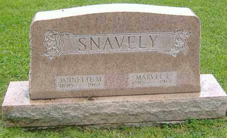 SNAVELY, JANNETTE M. - Richland County, Ohio | JANNETTE M. SNAVELY - Ohio Gravestone Photos