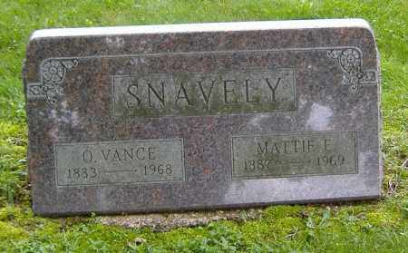 SNAVELY, MATTIE ELLEN - Richland County, Ohio | MATTIE ELLEN SNAVELY - Ohio Gravestone Photos