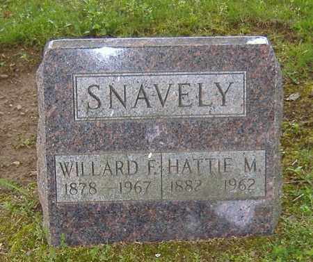 SNAVELY, WILLARD FLOREN - Richland County, Ohio | WILLARD FLOREN SNAVELY - Ohio Gravestone Photos