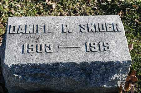 SNIDER, DANIEL P - Richland County, Ohio | DANIEL P SNIDER - Ohio Gravestone Photos