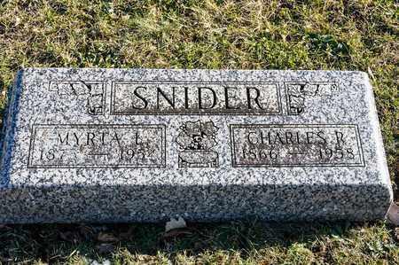 SNIDER, MYRTA L - Richland County, Ohio | MYRTA L SNIDER - Ohio Gravestone Photos