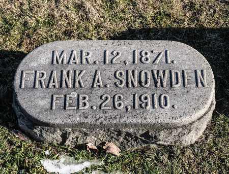 SNOWDEN, FRANK A - Richland County, Ohio | FRANK A SNOWDEN - Ohio Gravestone Photos