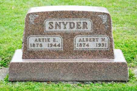 SNYDER, ARTIE E - Richland County, Ohio | ARTIE E SNYDER - Ohio Gravestone Photos