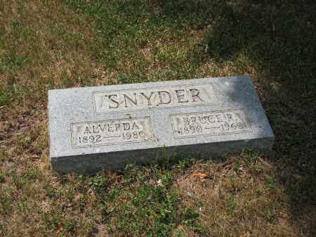 SNYDER, ALVERDA - Richland County, Ohio | ALVERDA SNYDER - Ohio Gravestone Photos