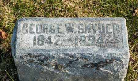 SNYDER, GEORGE W - Richland County, Ohio | GEORGE W SNYDER - Ohio Gravestone Photos