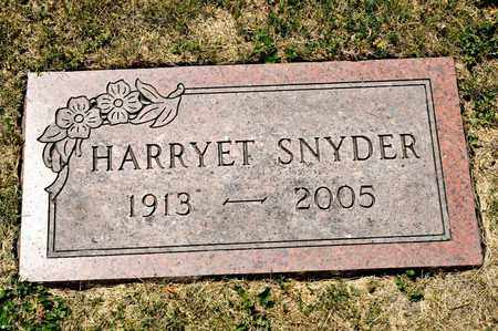 SNYDER, HARRYET - Richland County, Ohio | HARRYET SNYDER - Ohio Gravestone Photos