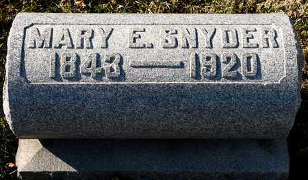 SNYDER, MARY E - Richland County, Ohio | MARY E SNYDER - Ohio Gravestone Photos