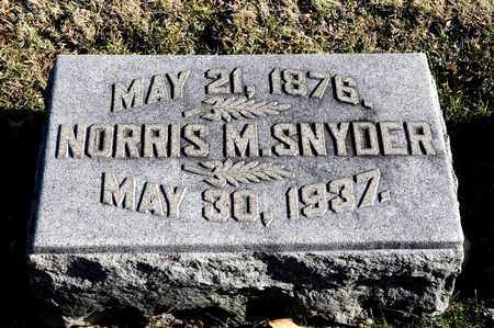 SNYDER, NORRIS M - Richland County, Ohio | NORRIS M SNYDER - Ohio Gravestone Photos
