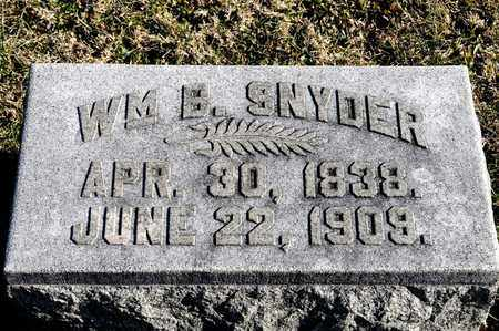 SNYDER, WILLIAM B - Richland County, Ohio | WILLIAM B SNYDER - Ohio Gravestone Photos