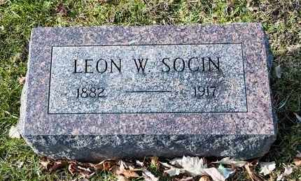 SOCIN, LEON W - Richland County, Ohio | LEON W SOCIN - Ohio Gravestone Photos