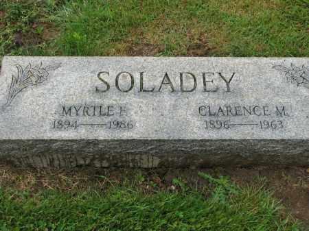 SOLADEY, CLARENCE M. - Richland County, Ohio | CLARENCE M. SOLADEY - Ohio Gravestone Photos