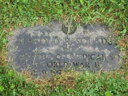 SOLADEY, HAROLD R. - Richland County, Ohio | HAROLD R. SOLADEY - Ohio Gravestone Photos