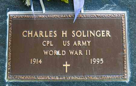 SOLINGER, CHARLES H - Richland County, Ohio | CHARLES H SOLINGER - Ohio Gravestone Photos