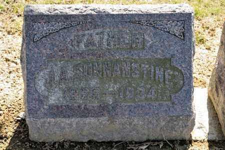 SONNANSTINE, J A - Richland County, Ohio | J A SONNANSTINE - Ohio Gravestone Photos