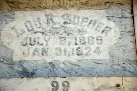 SOPHER, LOU R - Richland County, Ohio   LOU R SOPHER - Ohio Gravestone Photos