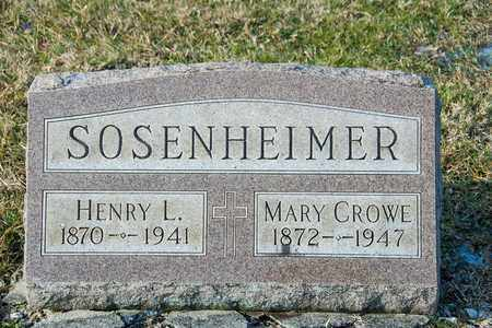 CROWE SOSENHEIMER, MARY - Richland County, Ohio | MARY CROWE SOSENHEIMER - Ohio Gravestone Photos