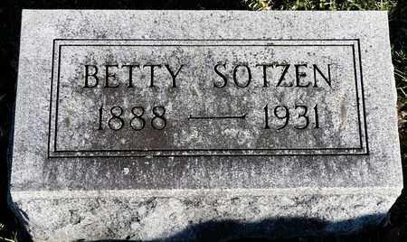 SOTZEN, BETTY - Richland County, Ohio | BETTY SOTZEN - Ohio Gravestone Photos