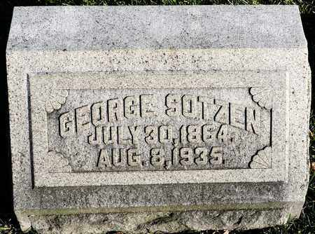 SOTZEN, GEORGE - Richland County, Ohio | GEORGE SOTZEN - Ohio Gravestone Photos