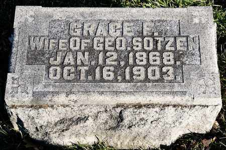 SOTZEN, GRACE F - Richland County, Ohio | GRACE F SOTZEN - Ohio Gravestone Photos