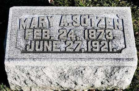 SOTZEN, MARY A - Richland County, Ohio | MARY A SOTZEN - Ohio Gravestone Photos