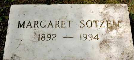 SOTZEN, MARGARET - Richland County, Ohio | MARGARET SOTZEN - Ohio Gravestone Photos