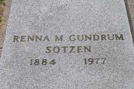 GUNDRUM SOTZEN, RENNA M - Richland County, Ohio | RENNA M GUNDRUM SOTZEN - Ohio Gravestone Photos