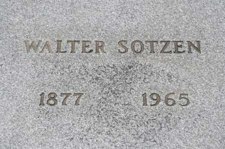 SOTZEN, WALTER - Richland County, Ohio | WALTER SOTZEN - Ohio Gravestone Photos
