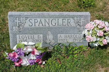 SPANGLER, A HAROLD - Richland County, Ohio | A HAROLD SPANGLER - Ohio Gravestone Photos