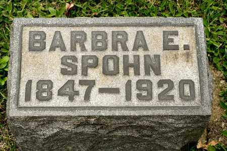 SPOHN, BARBRA E - Richland County, Ohio | BARBRA E SPOHN - Ohio Gravestone Photos