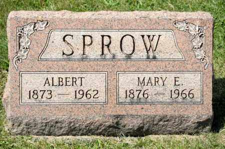 SPROW, MARY E - Richland County, Ohio | MARY E SPROW - Ohio Gravestone Photos