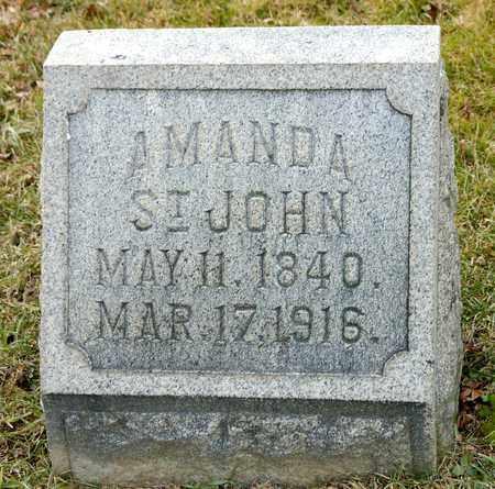 ST JOHN, AMANDA - Richland County, Ohio   AMANDA ST JOHN - Ohio Gravestone Photos