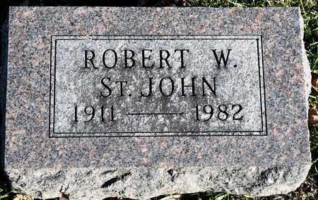 ST. JOHN, ROBERT W - Richland County, Ohio | ROBERT W ST. JOHN - Ohio Gravestone Photos