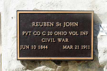 ST JOHN, REUBEN - Richland County, Ohio | REUBEN ST JOHN - Ohio Gravestone Photos