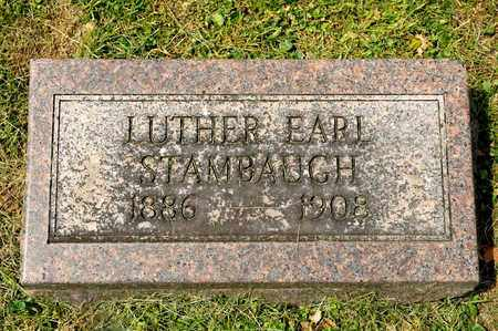 STAMBAUGH, LUTHER EARL - Richland County, Ohio   LUTHER EARL STAMBAUGH - Ohio Gravestone Photos