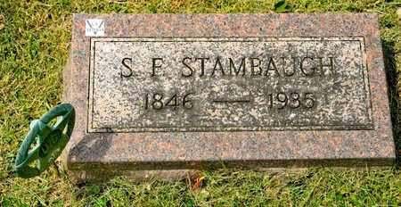 STAMBAUGH, S F - Richland County, Ohio | S F STAMBAUGH - Ohio Gravestone Photos