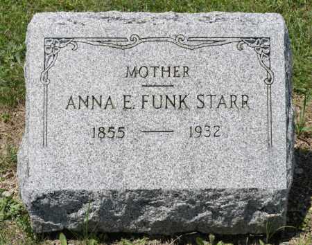 FUNK STARR, ANNA E - Richland County, Ohio | ANNA E FUNK STARR - Ohio Gravestone Photos