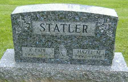 STATLER, K. PAUL - Richland County, Ohio | K. PAUL STATLER - Ohio Gravestone Photos