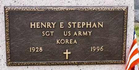 STEPHAN, HENRY E - Richland County, Ohio | HENRY E STEPHAN - Ohio Gravestone Photos