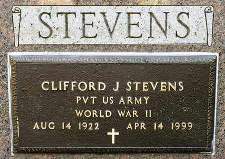 STEVENS, CLIFFORD J - Richland County, Ohio | CLIFFORD J STEVENS - Ohio Gravestone Photos
