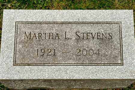 STEVENS, MARTHA L - Richland County, Ohio | MARTHA L STEVENS - Ohio Gravestone Photos