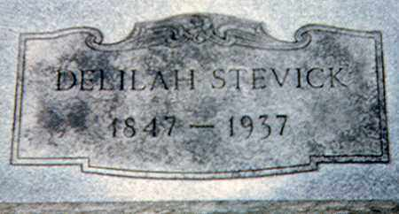 STEVICK, DELILAH - Richland County, Ohio | DELILAH STEVICK - Ohio Gravestone Photos
